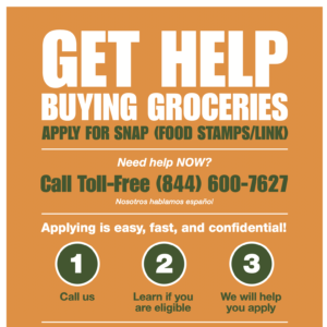 SNAP Poster - Get Help Buying Groceries